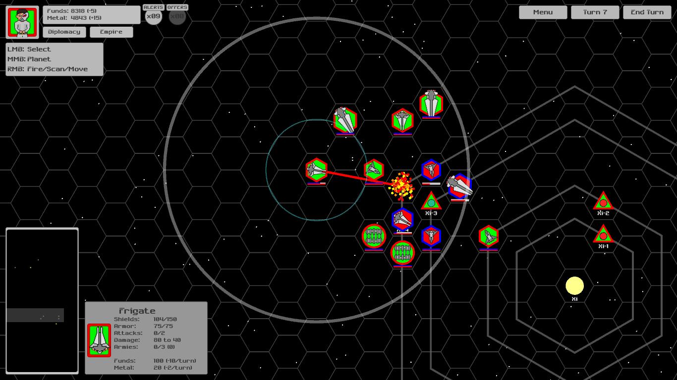 Starship fleet combat