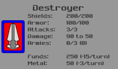 Destroyer Ship Details