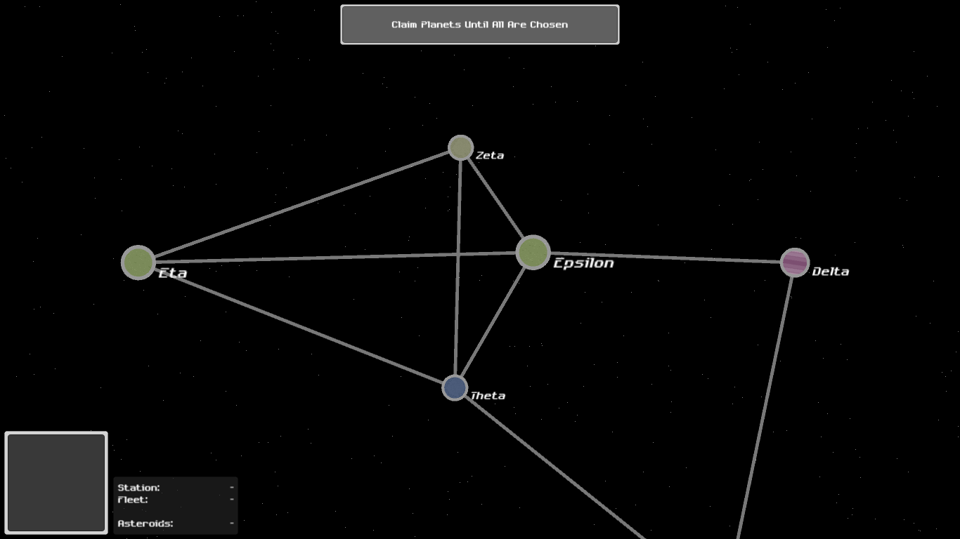 Planets are claimed at the beginning of the game.