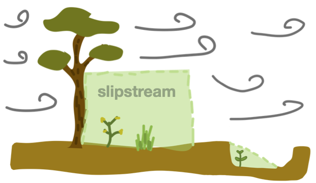 slipstreams tree and pit
