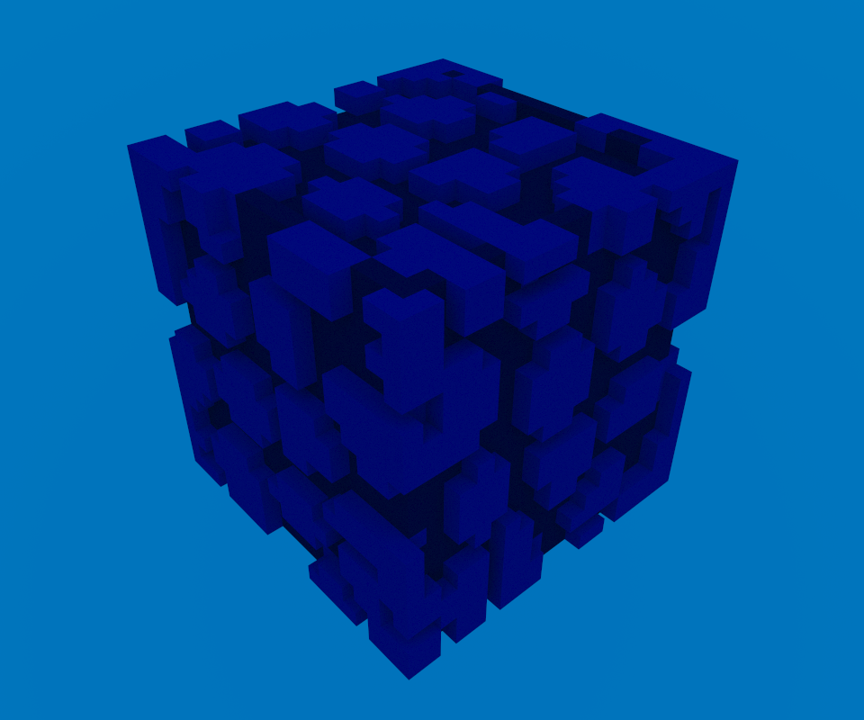 Netherguild wall made in MagicaVoxel