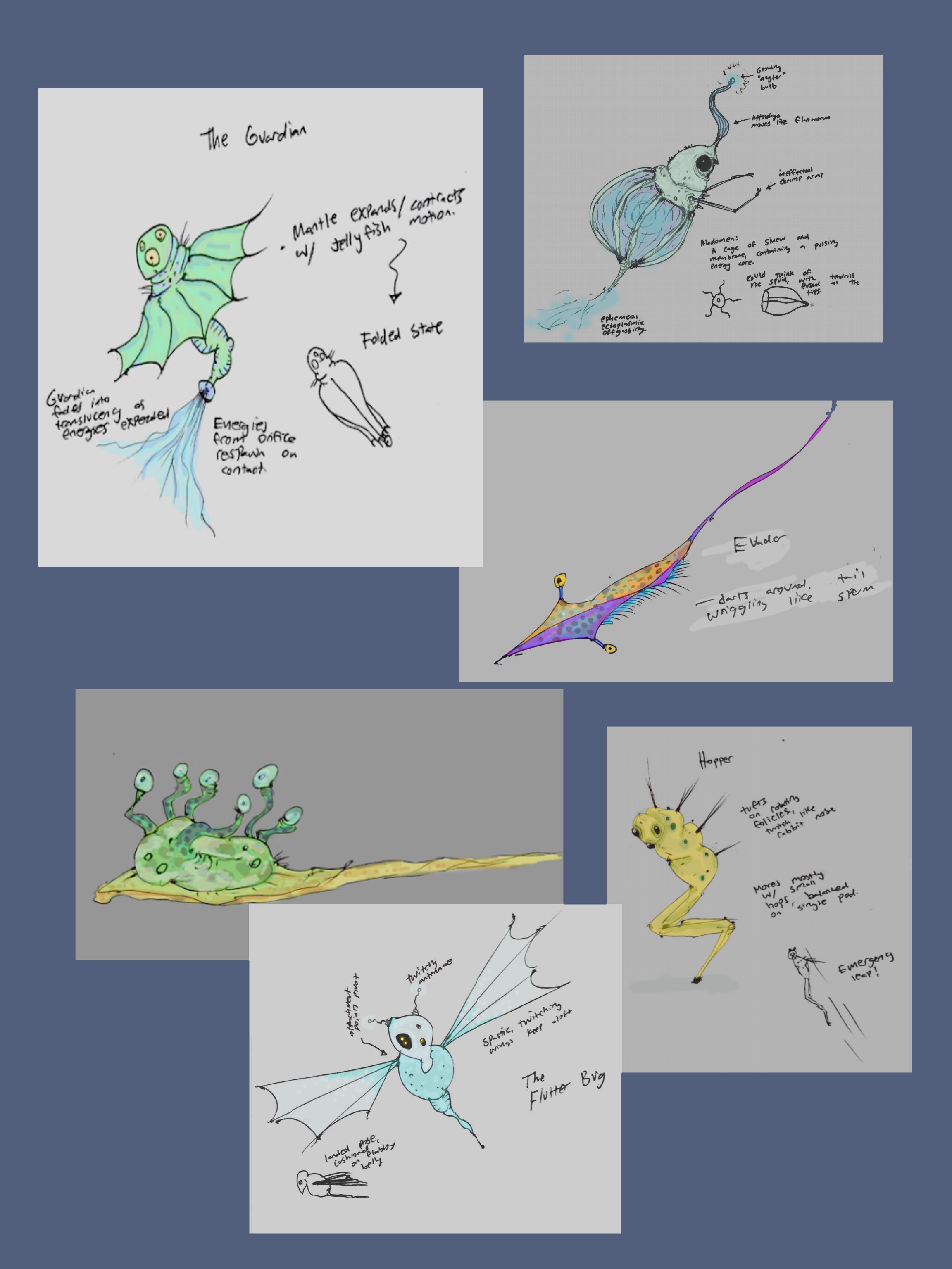 ectolibrium critter concepts