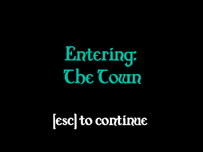 Capture of a loading level text screen.