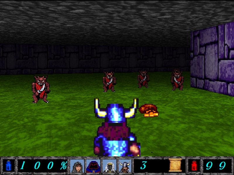 Battling with several Kobolds.