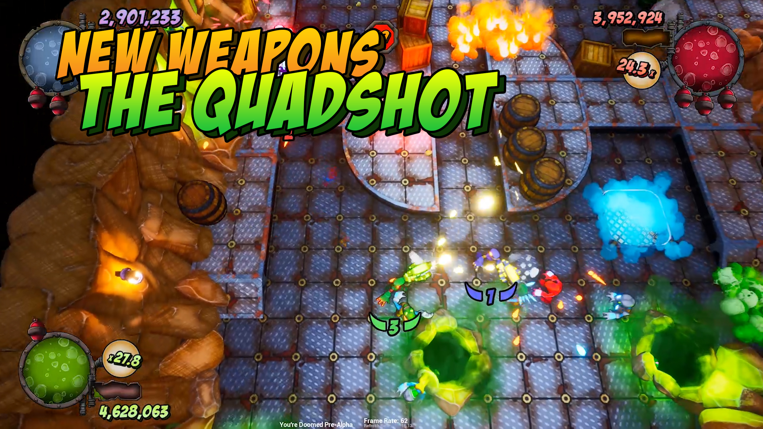 New Weapons - Quad Shot