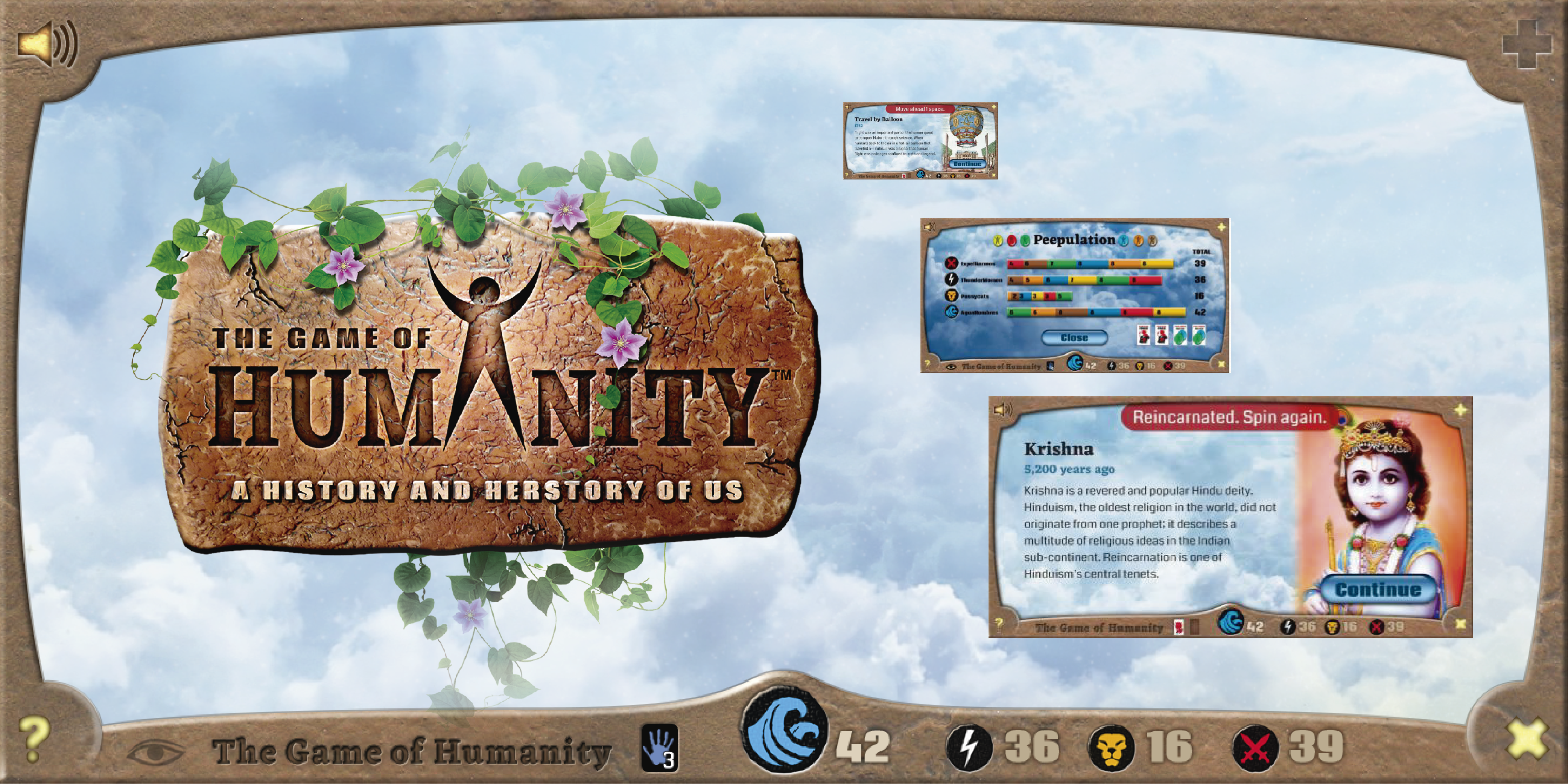 the game of humanity (Facebook ad)