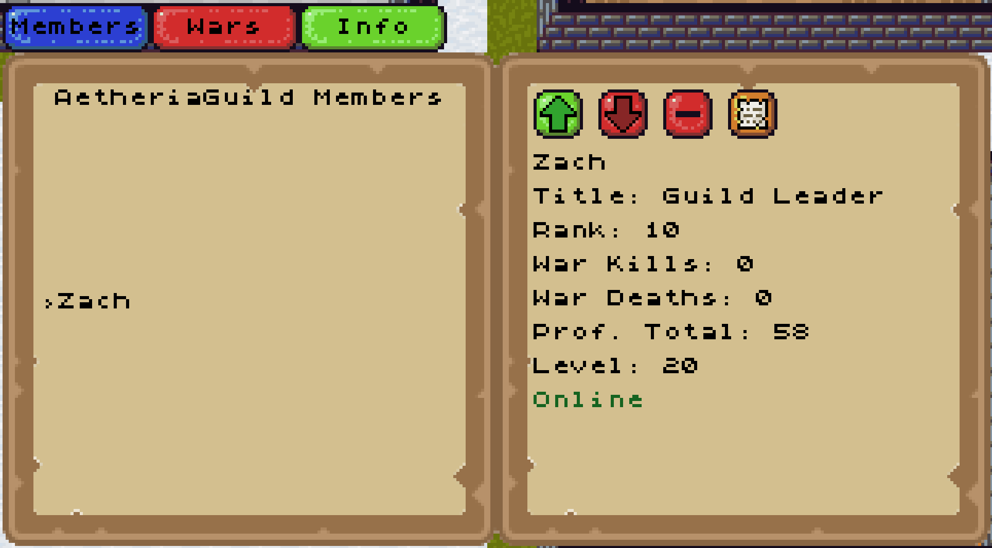 Guild Member UI