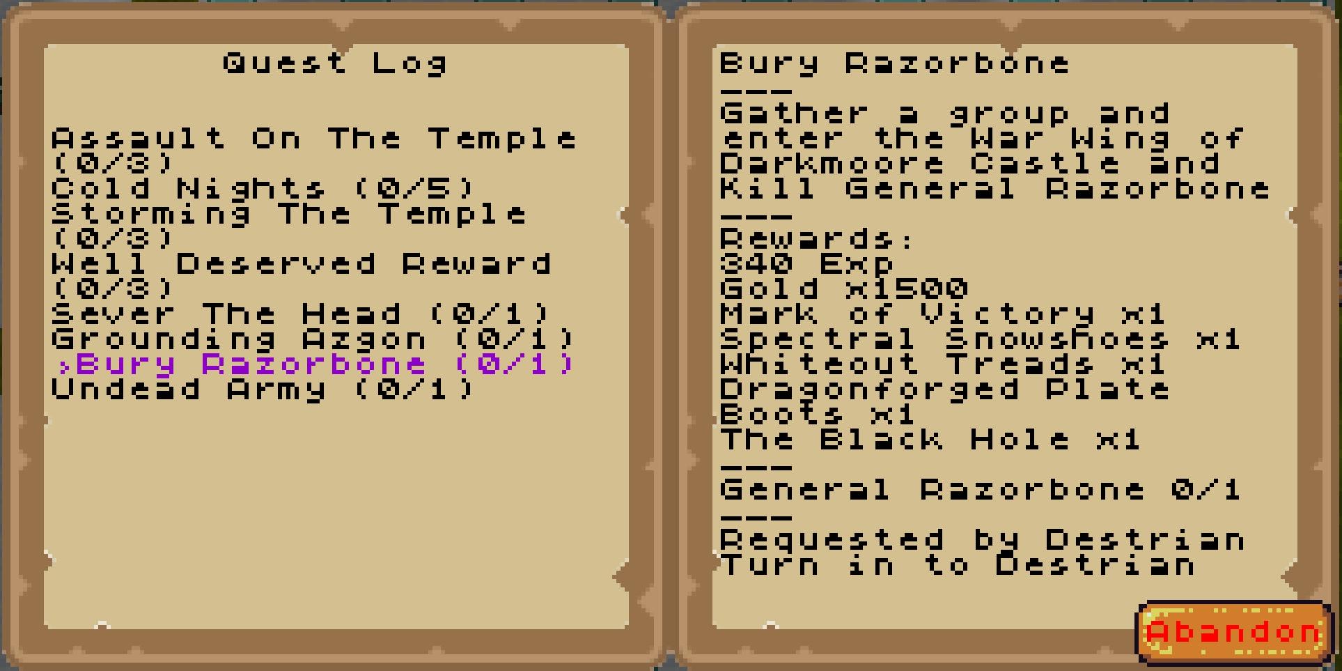 Razorbone Quest