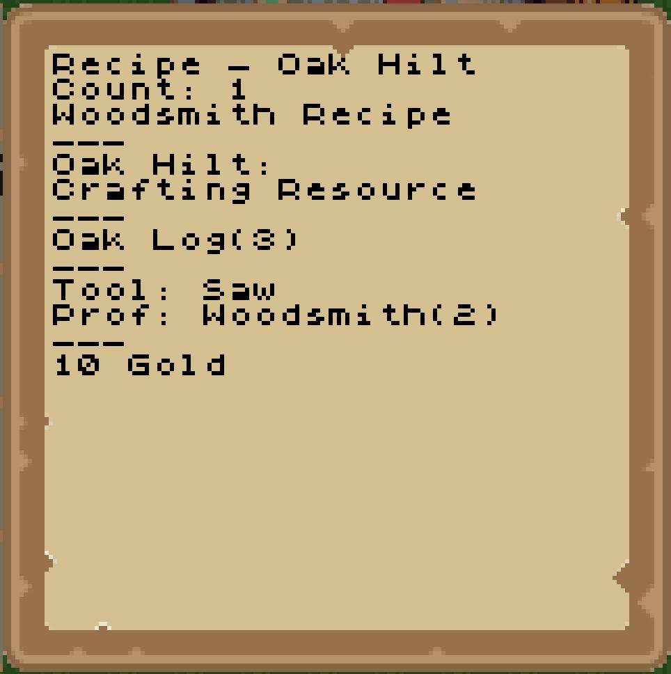 Woodsmith Recipes