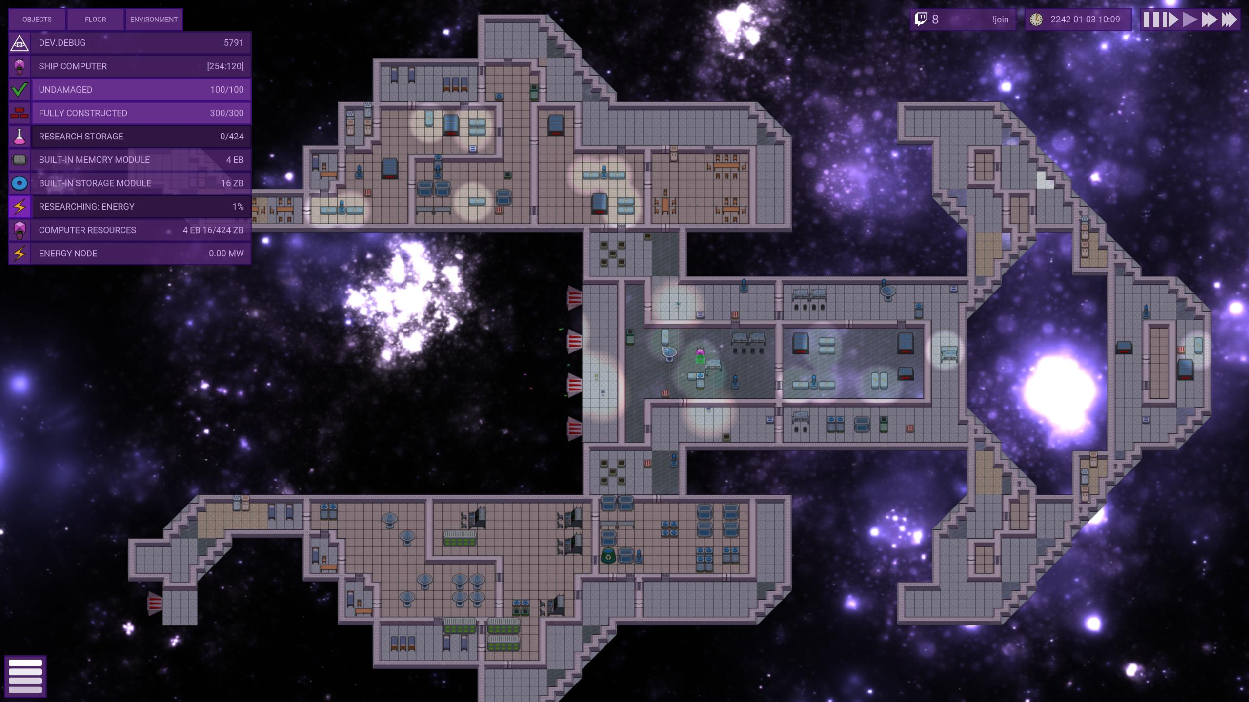 Procedurally Generated Space Ship in Stardeus