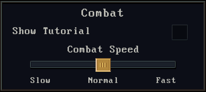 Combat Speed Option