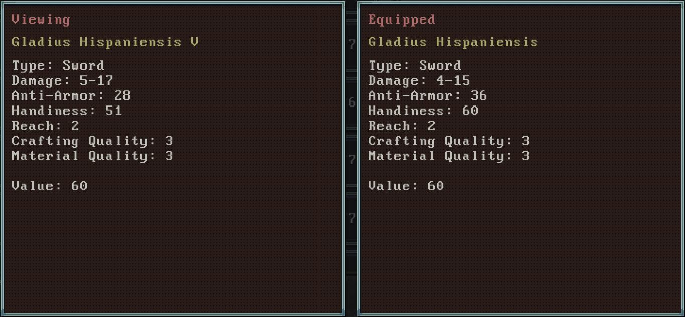 Gladius comparison