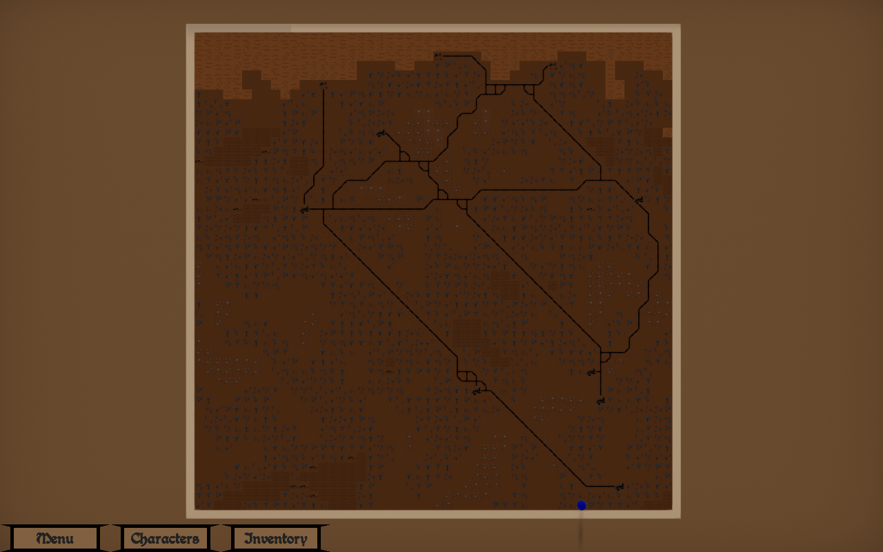 Zoomed out view of the map