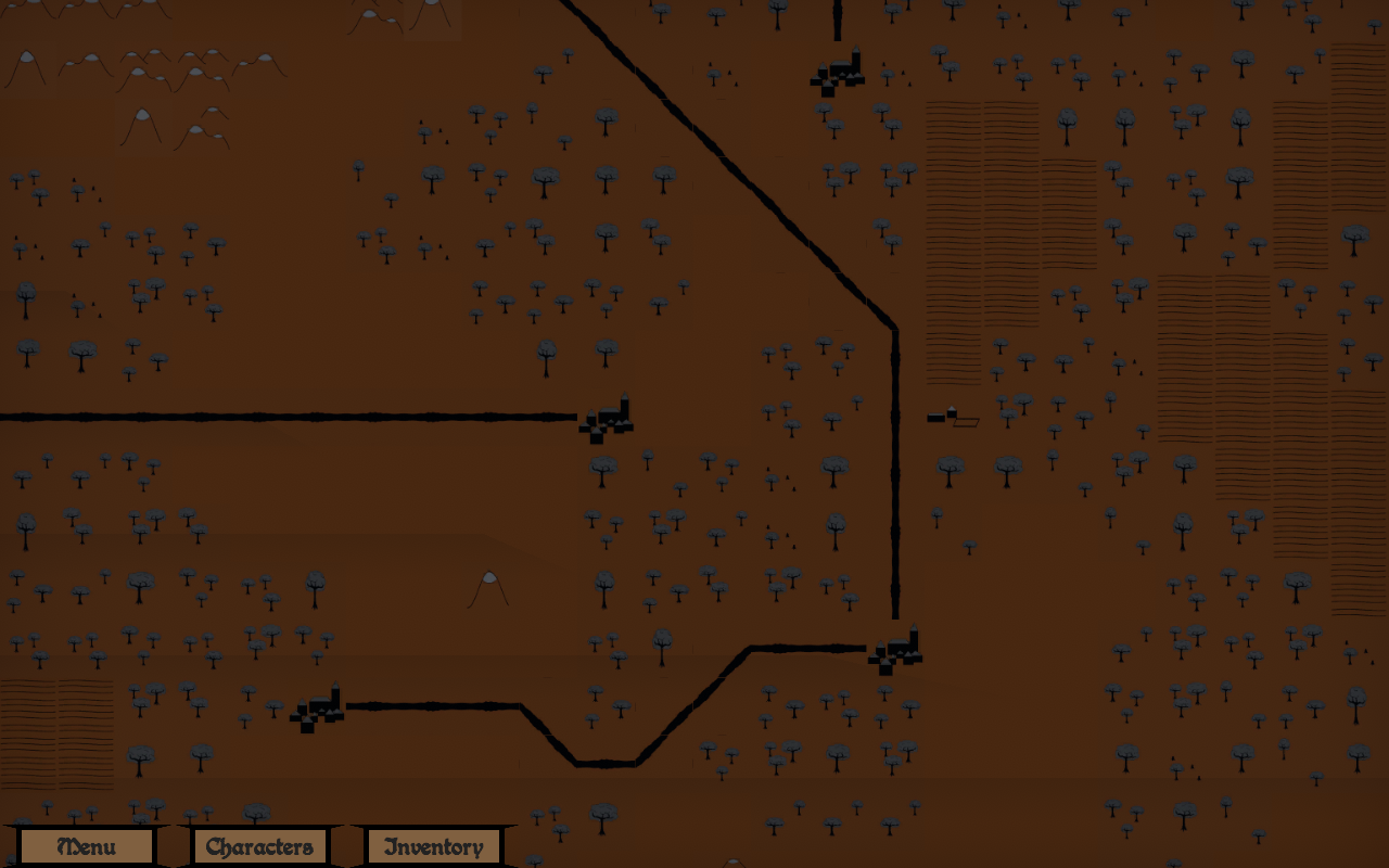 A zoomed in part of the map