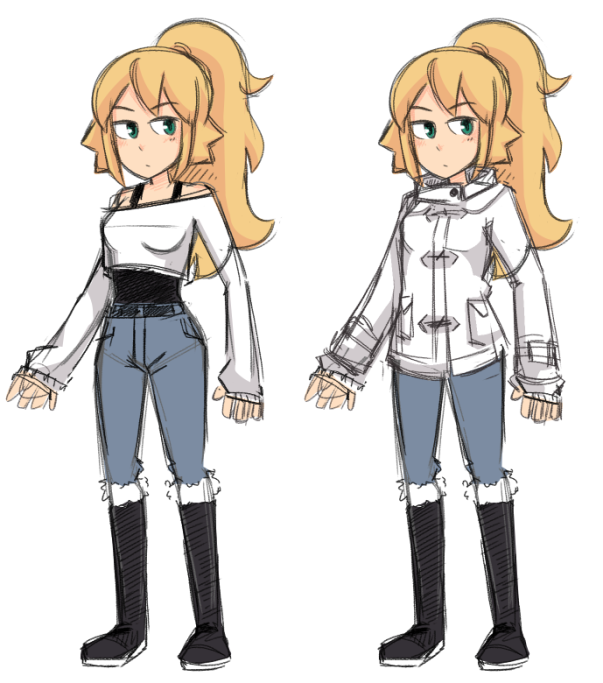 Lucy with Coat