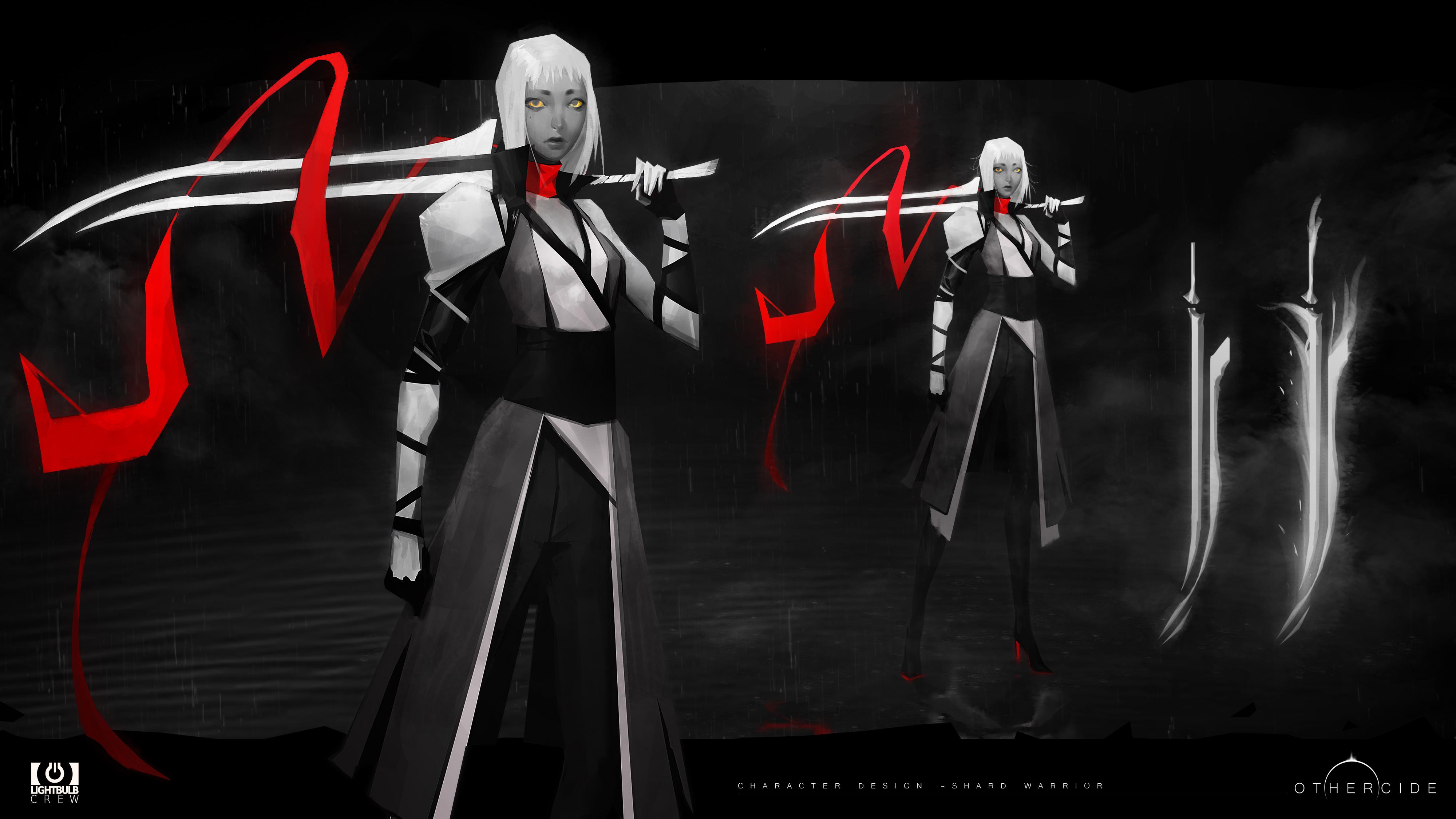 final concept art blademaster othercide