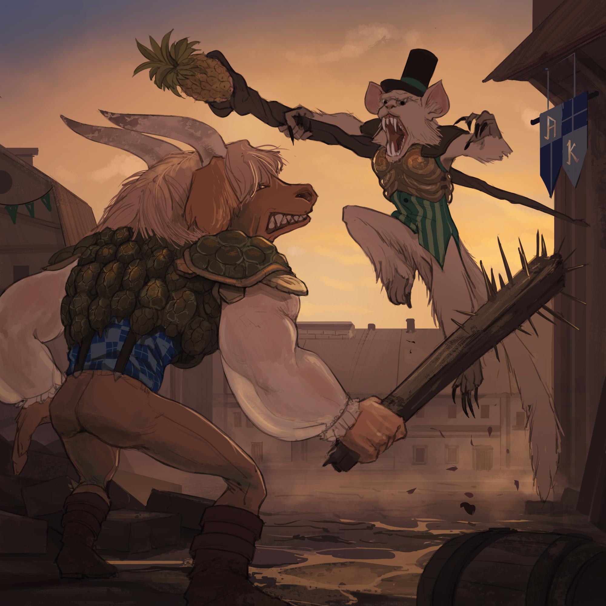 Brawl: Mouflon vs. Macaquiño