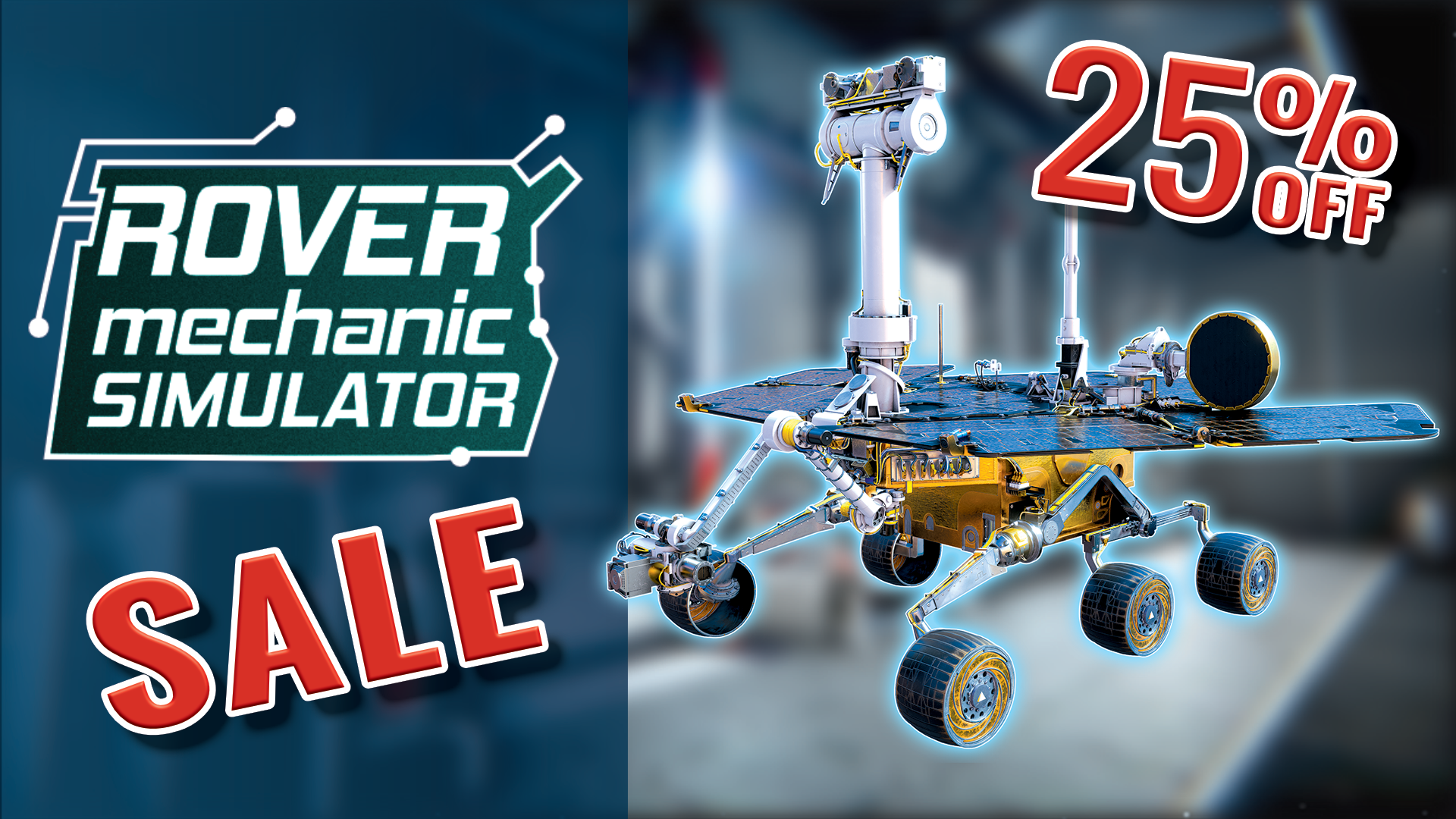 Rover Mechanic Simulator is on sale
