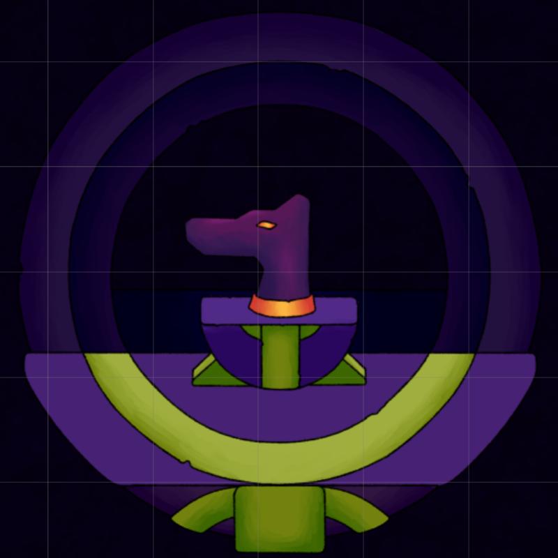 Lahmu's head, purple