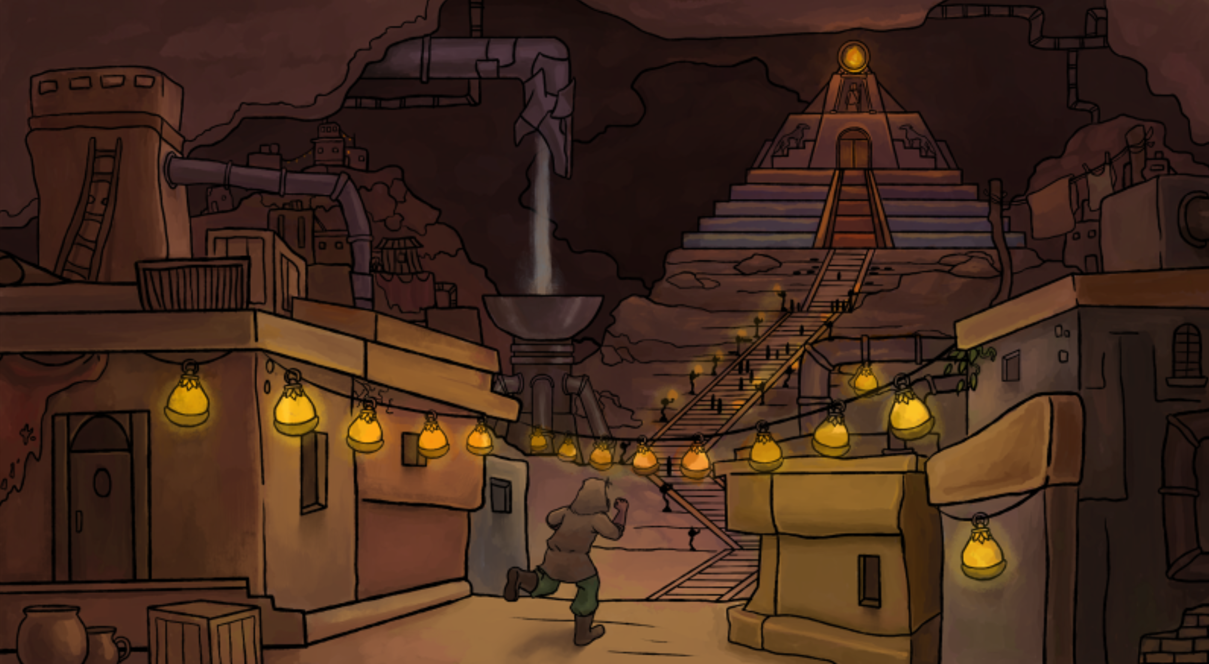Elfscape city inspired by Mesopotamian culture