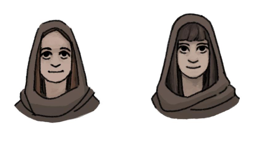 Zuzana (social media, public relations), Adel (2D artist)
