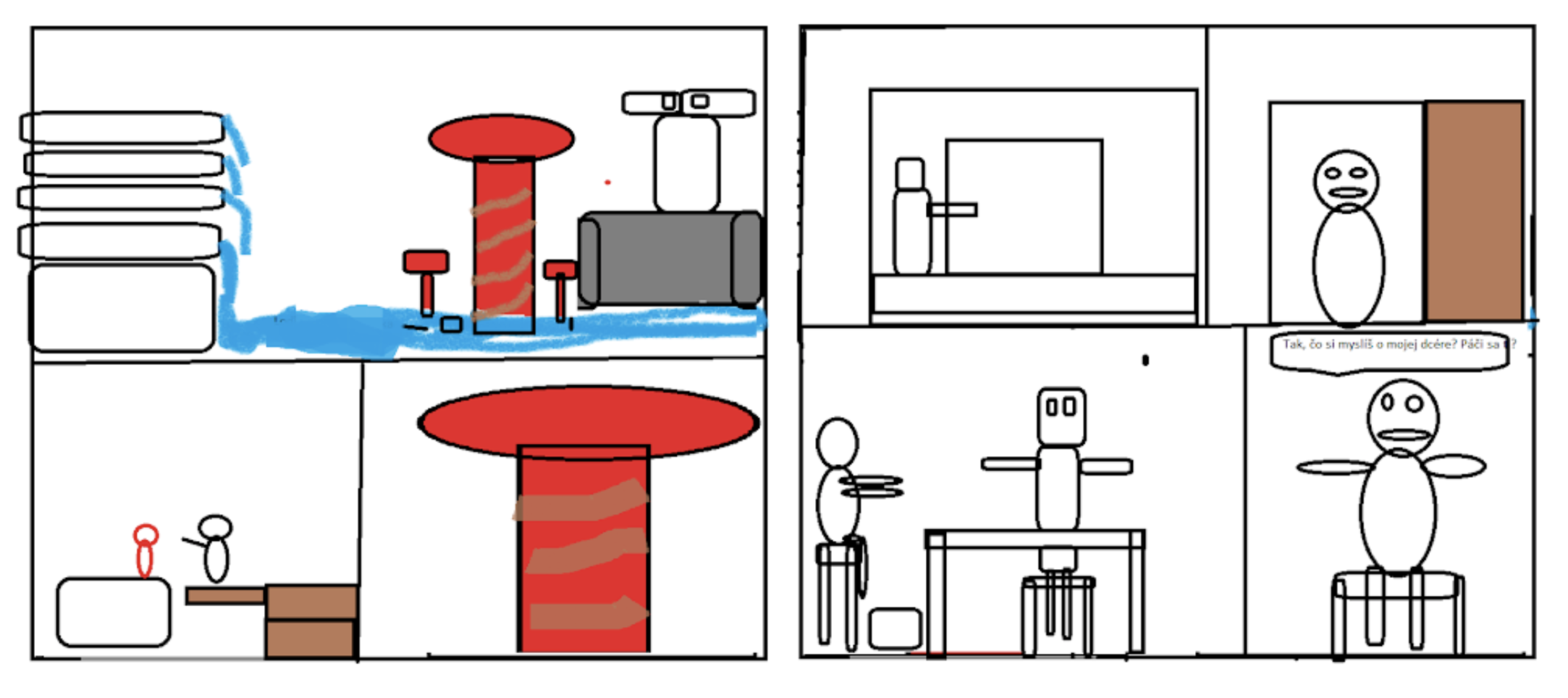 Sketch for comics in MS Paint