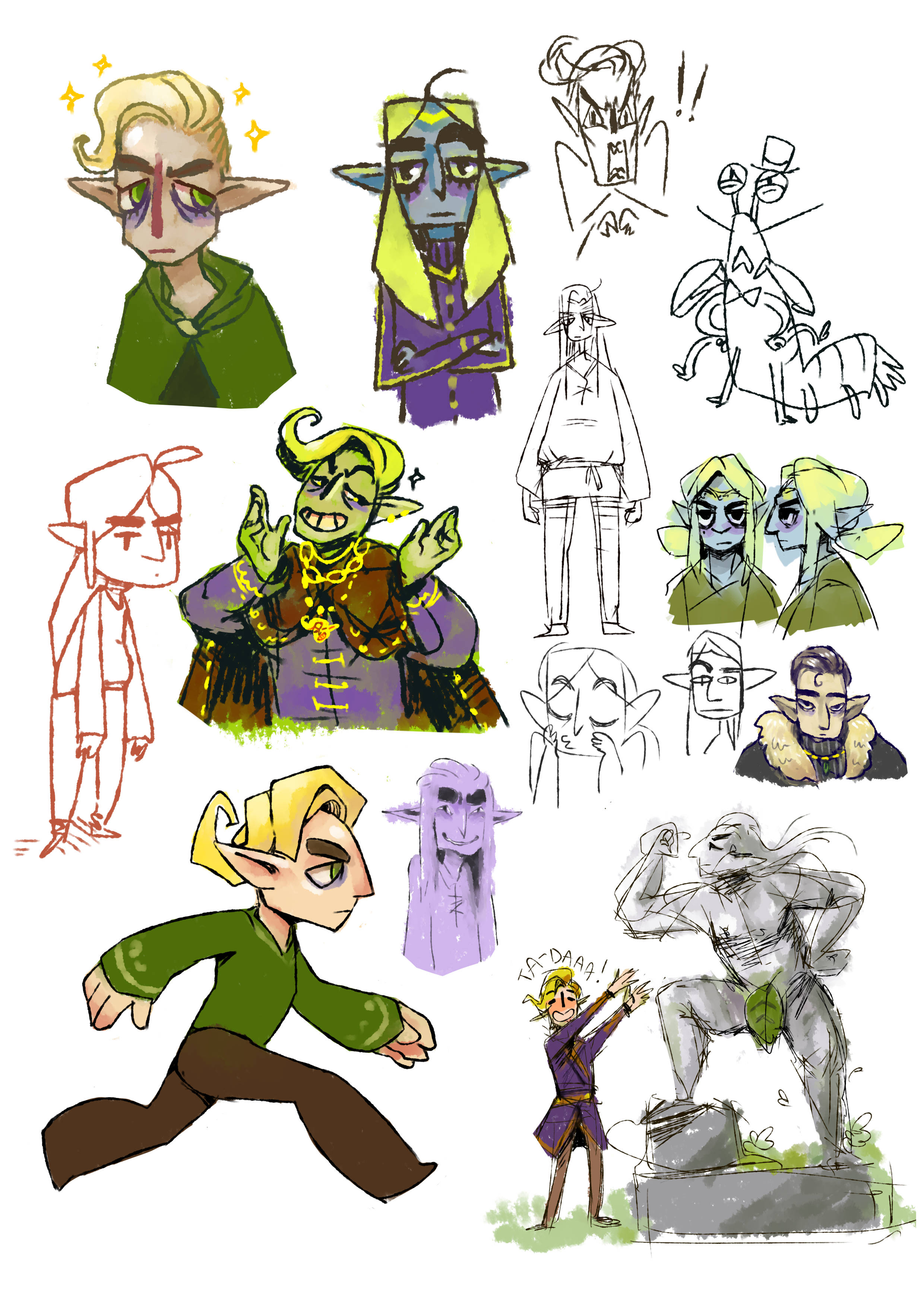 elven prince concept art