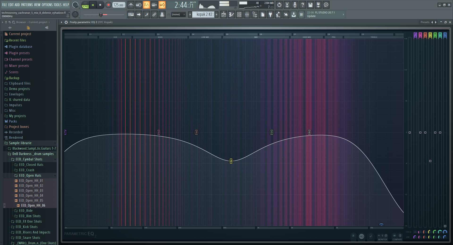 drum kick frequencies - current version
