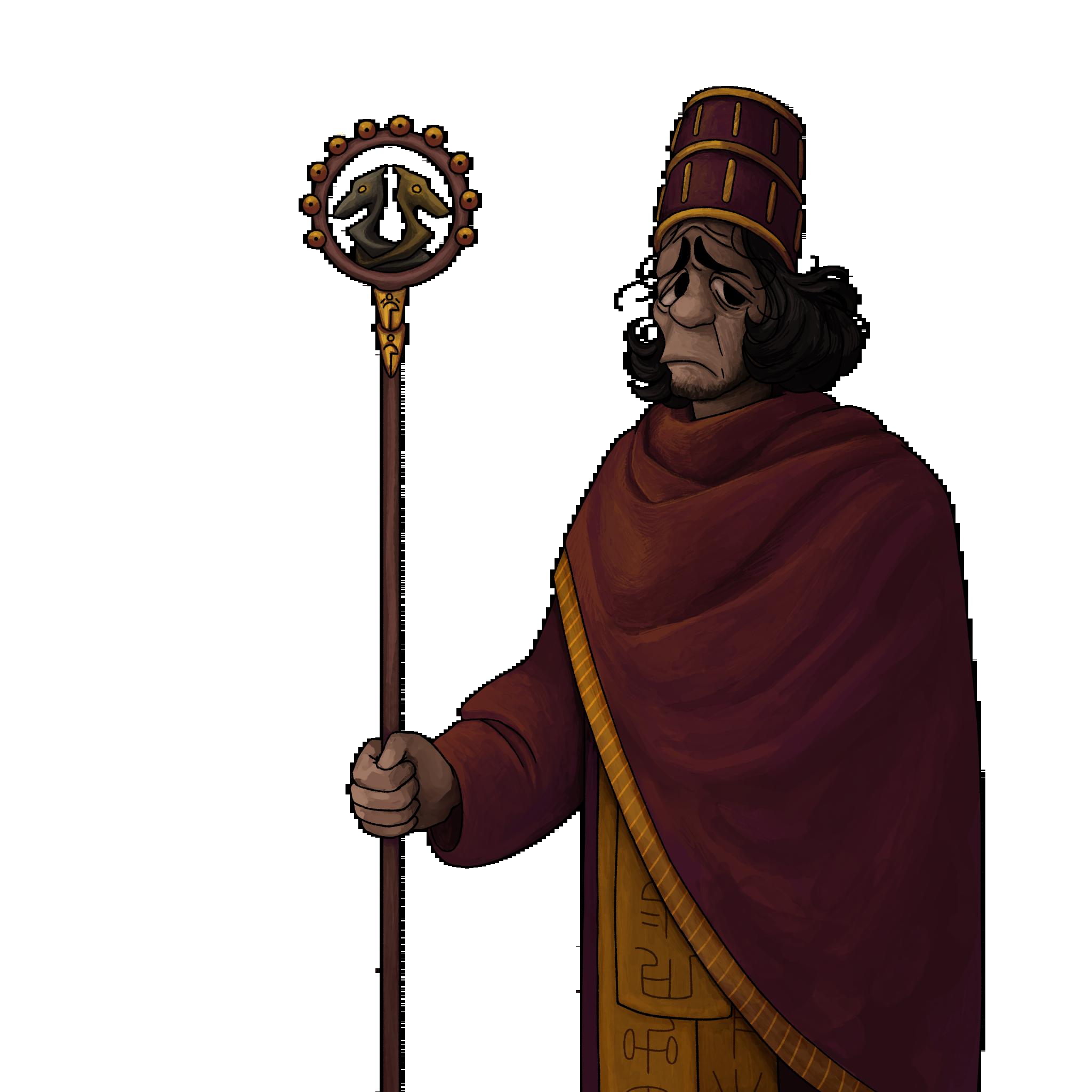 High priest - sad face