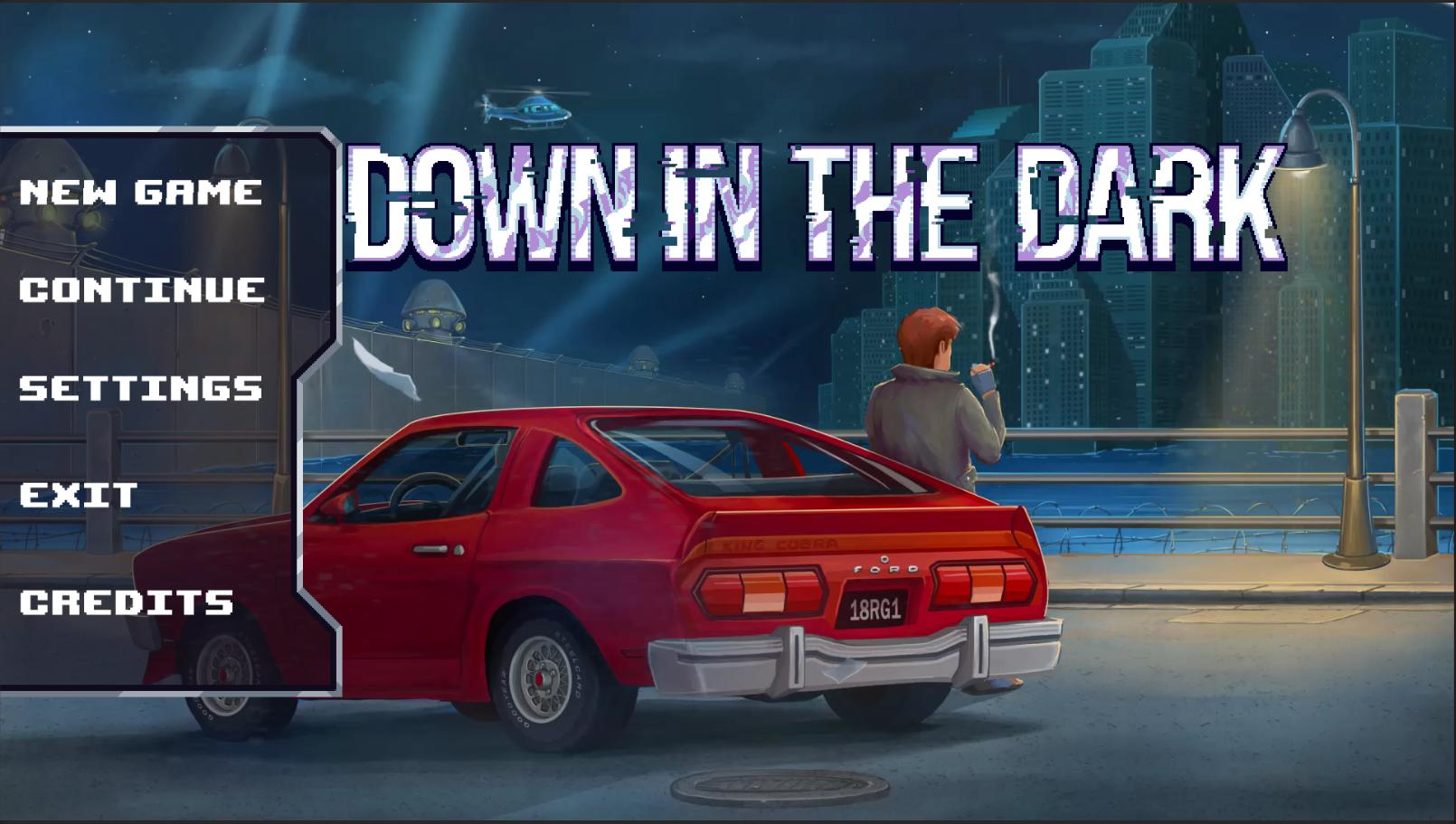 Down In The Dark  Title Screen