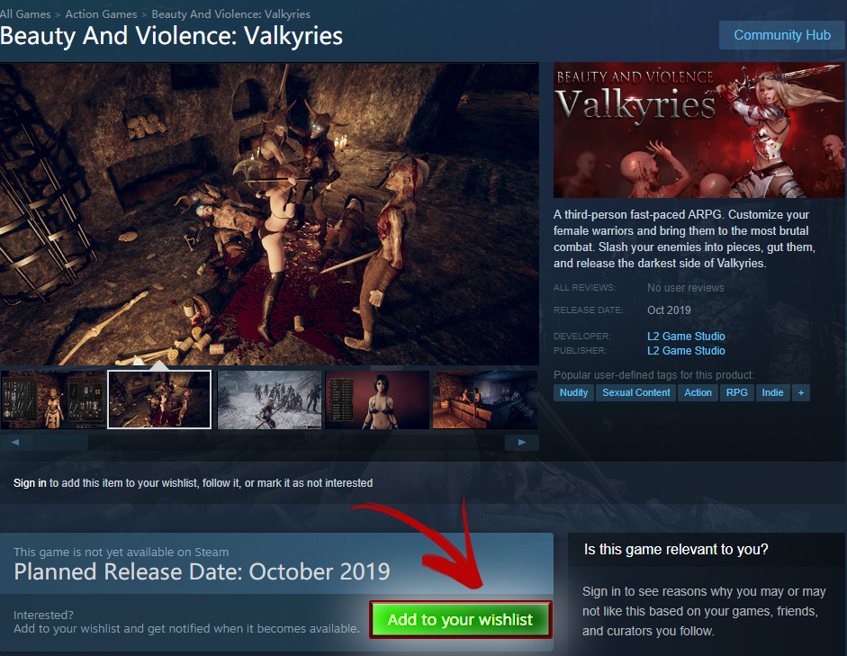 Beauty And Violence: Valkyries Wishlist