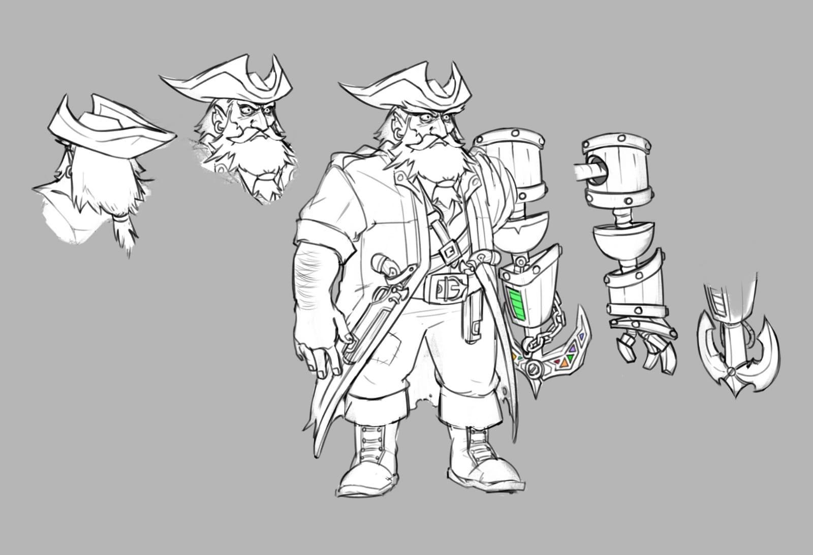 Pirate captain concept art