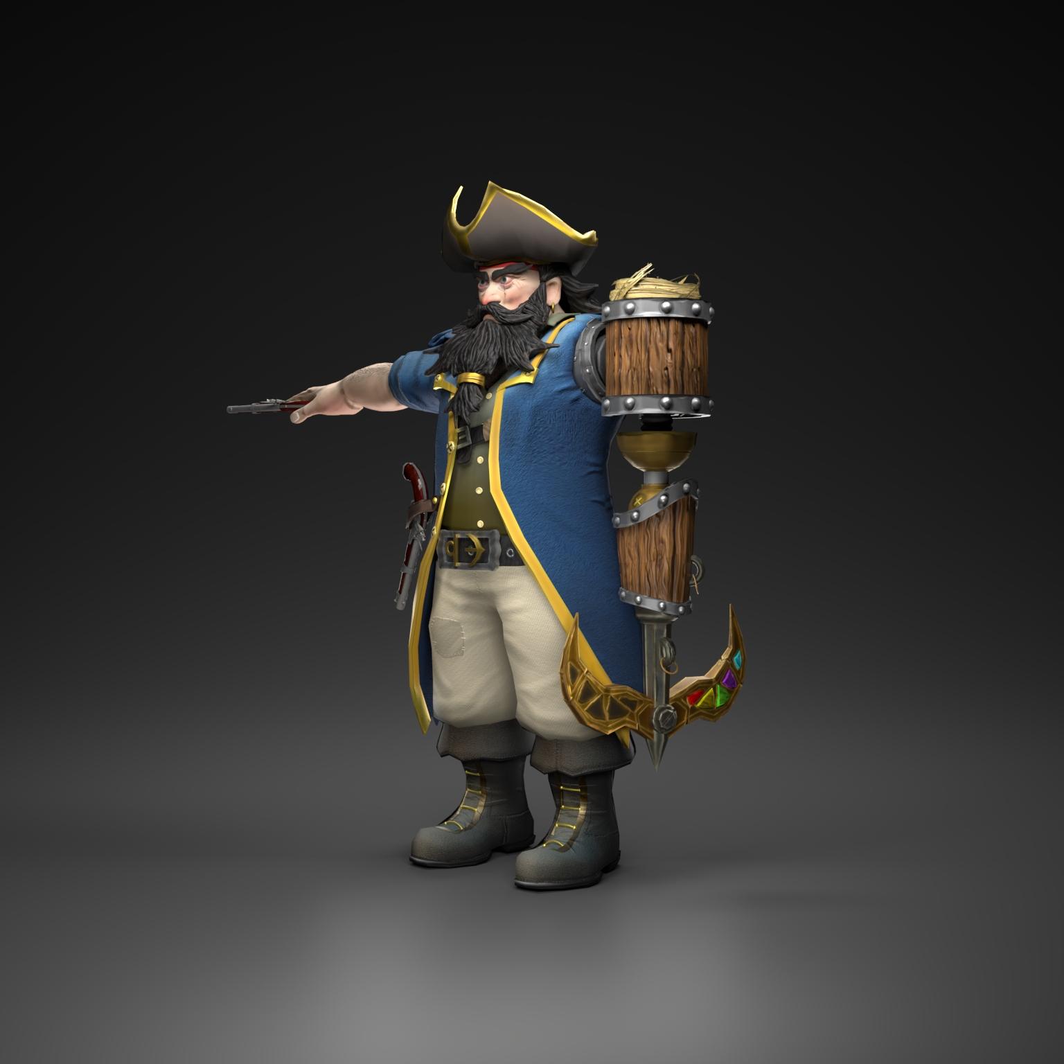 Pirate captain 3d model