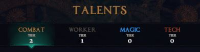 Character Talents