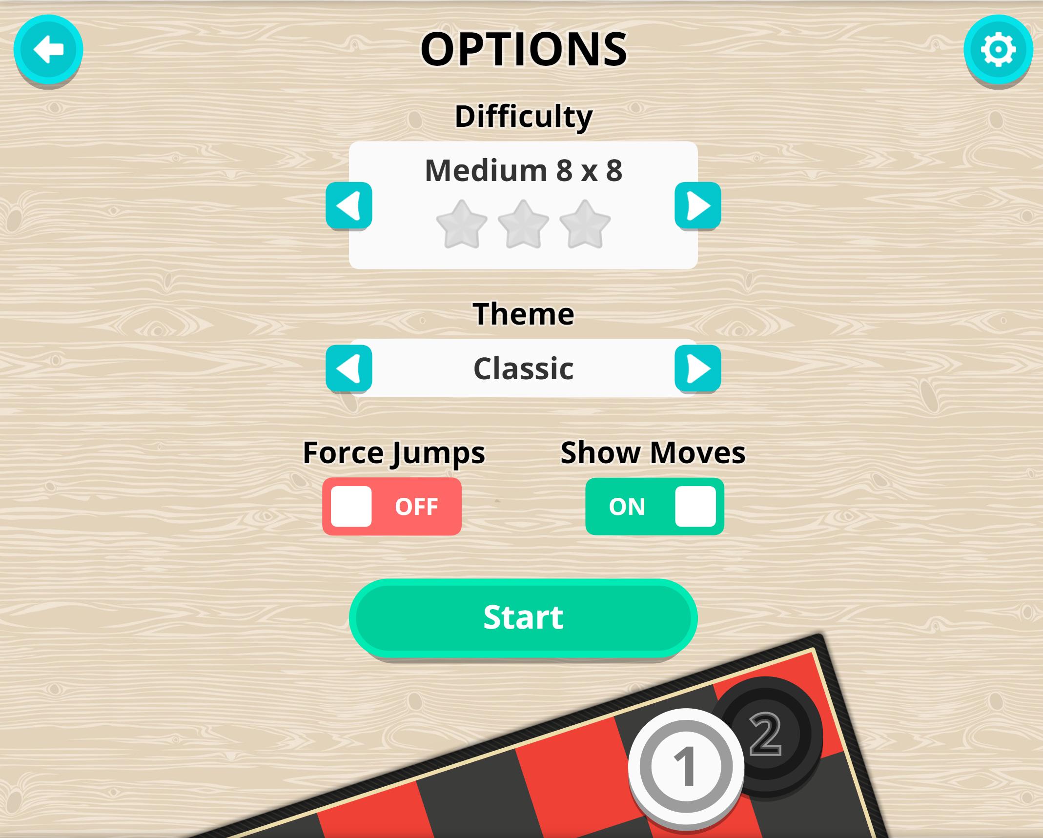 Checkers Game Setup