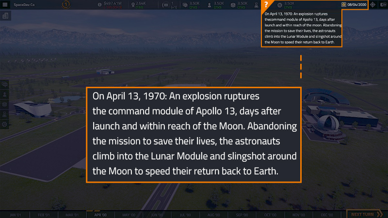Space Comapny Simulator - Historical Events