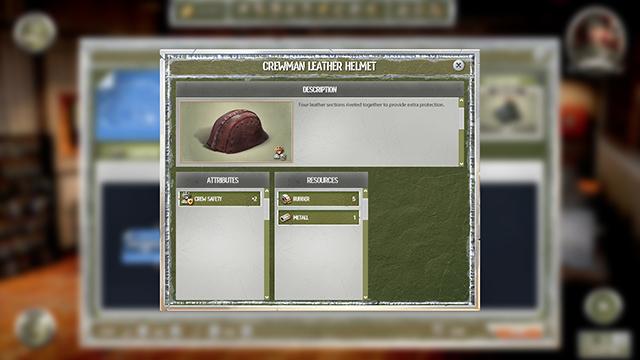 Crewman leather helmet