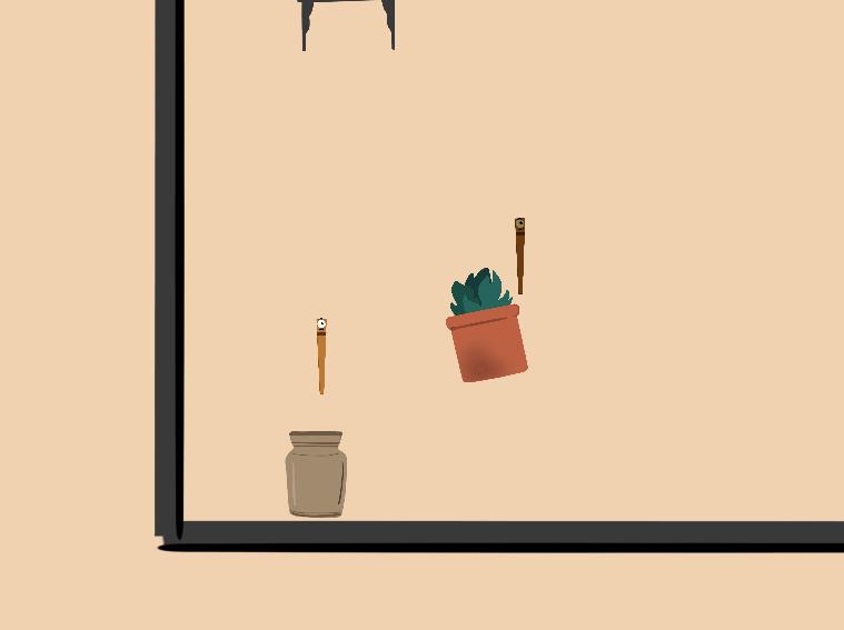 Falling plants