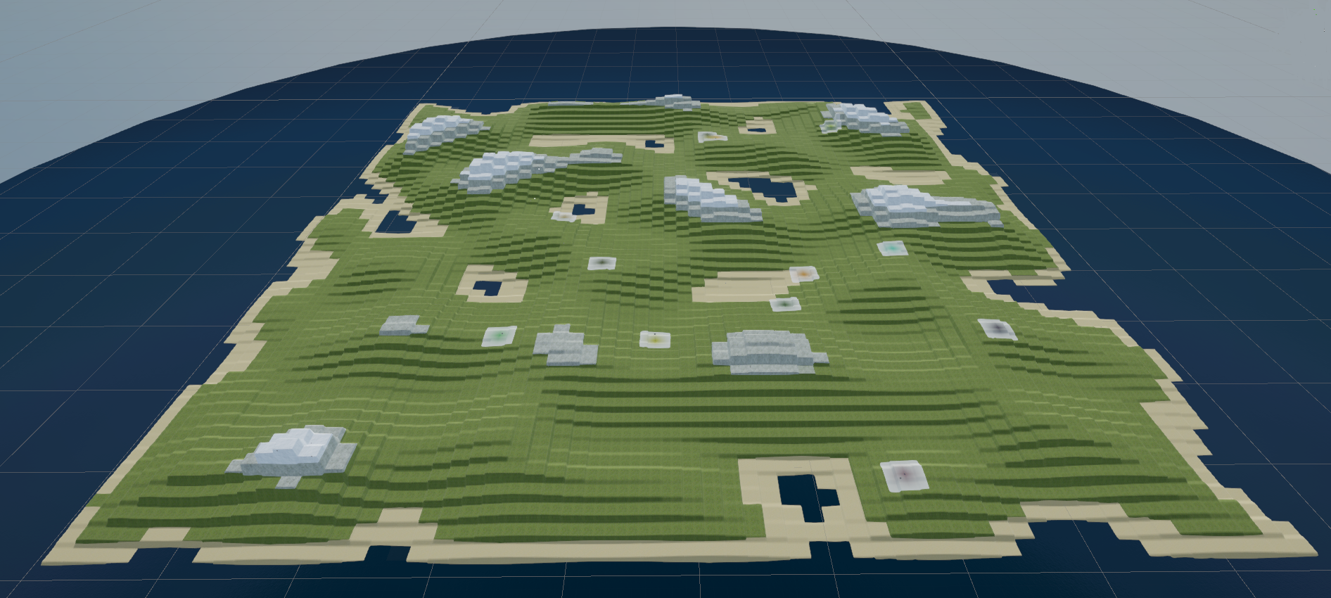 Zoomed out view of world map where most of the strategy aspects of the game play out
