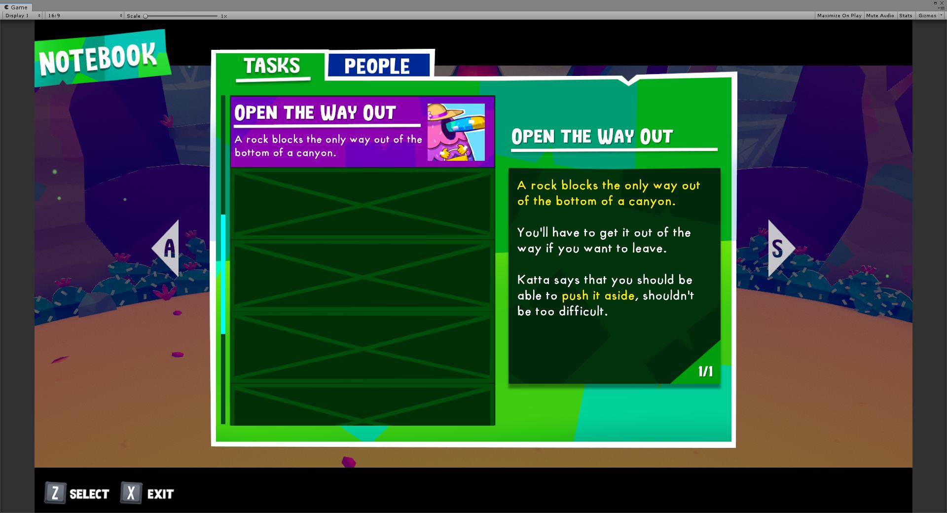 Notebook task menu