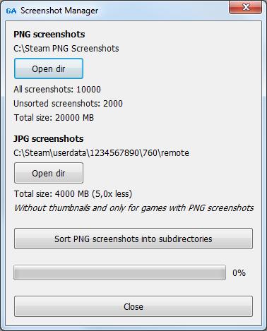 screenshot manager