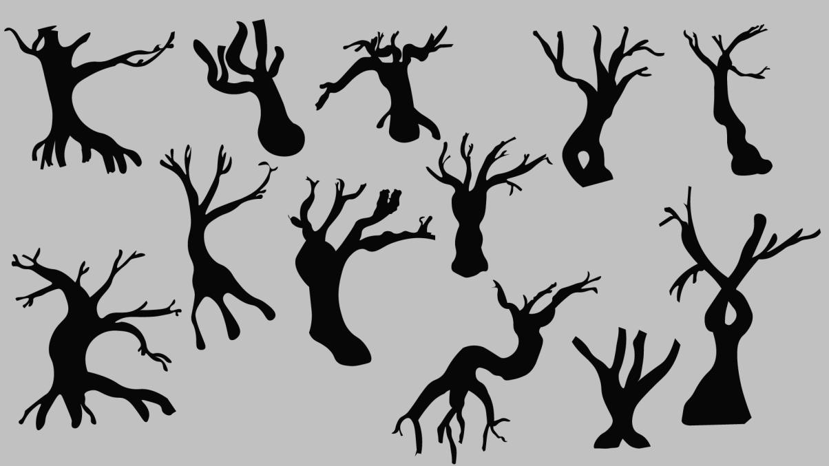 Trees Silluetes V4