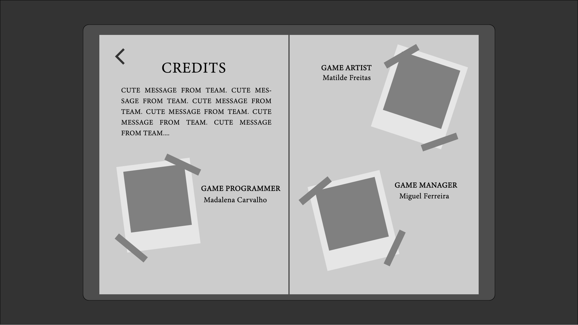 screens Credits