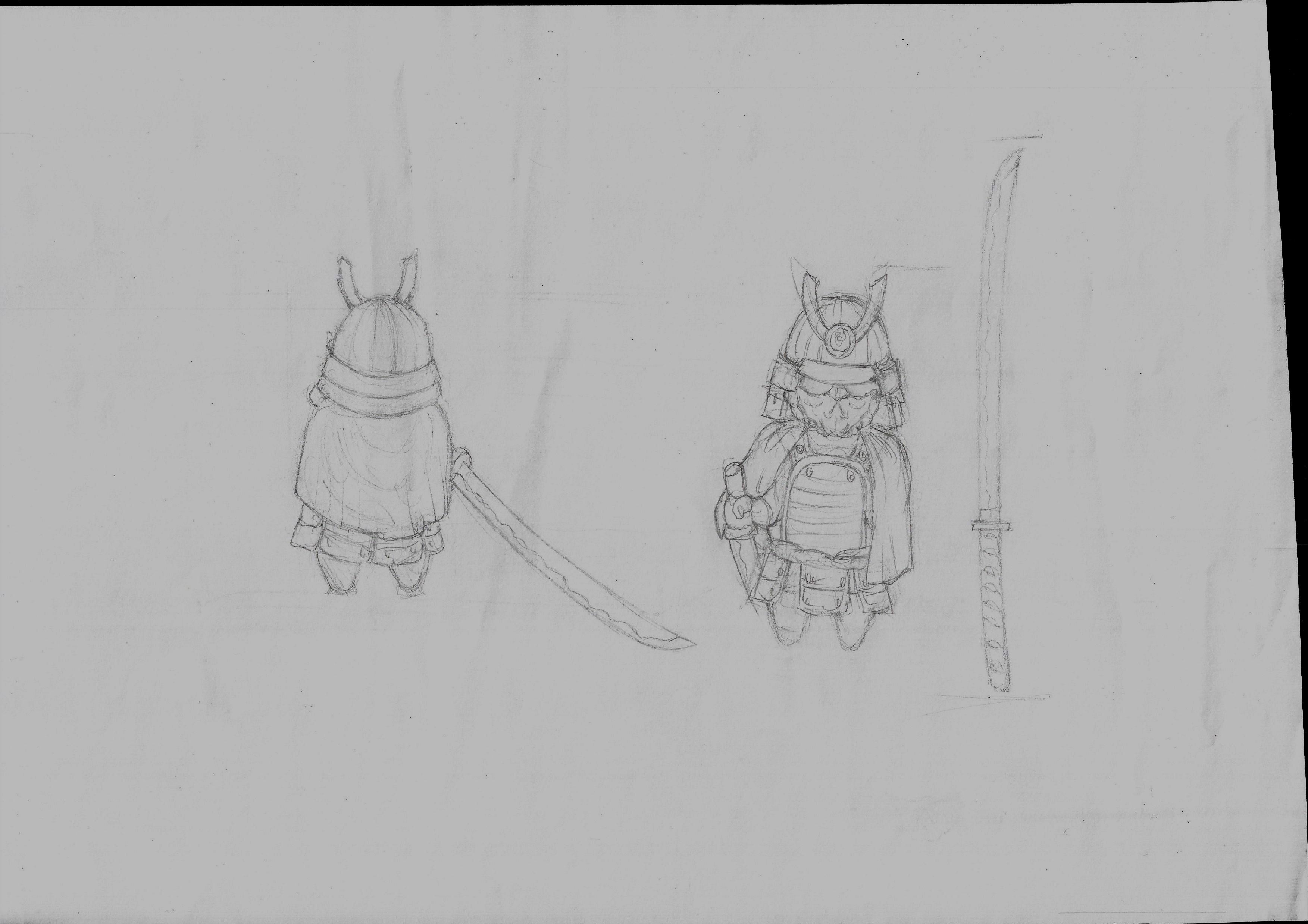 Kabuto first sketches