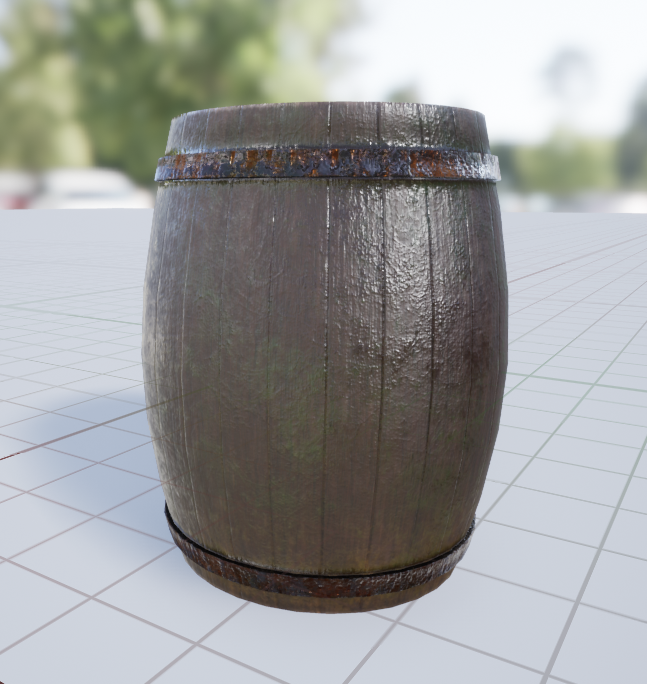 A barrel used in game as environment