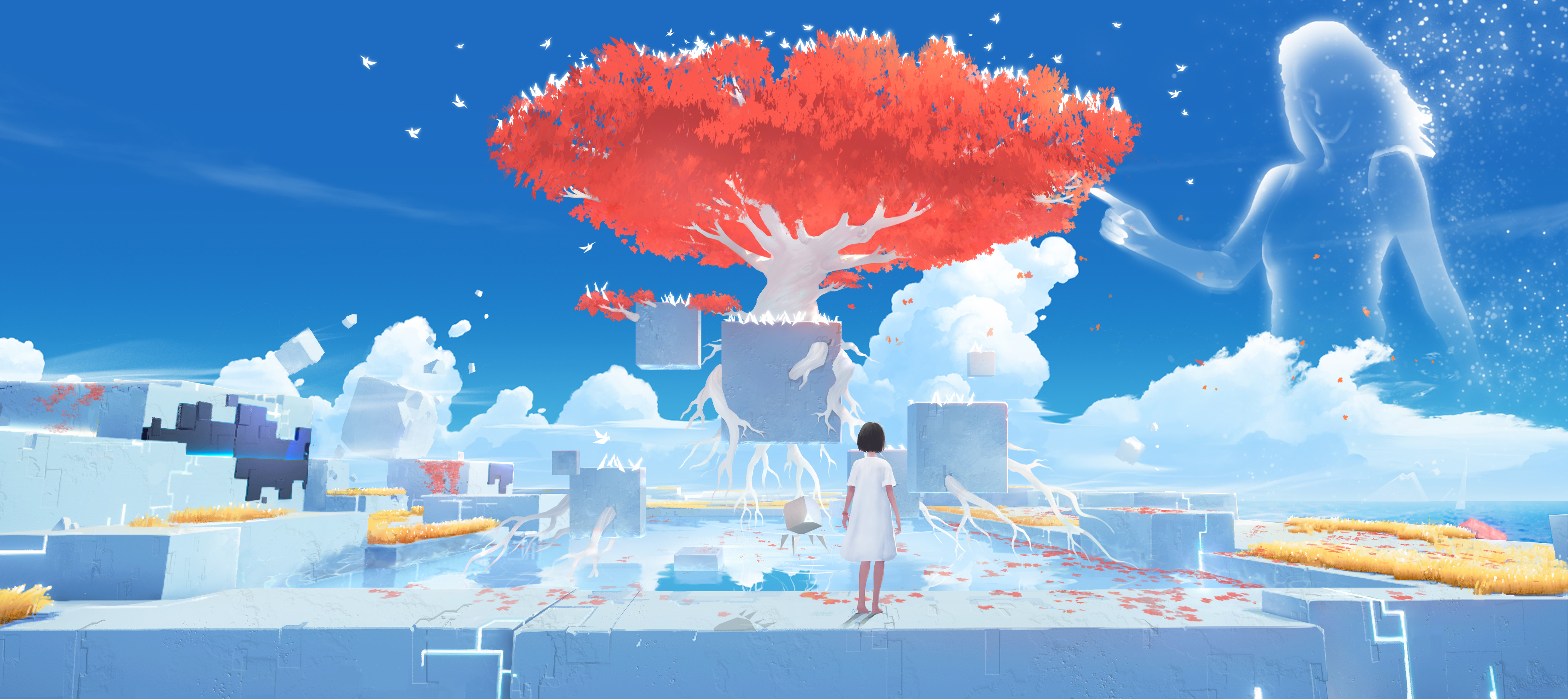 04 Concept art Big red tree with