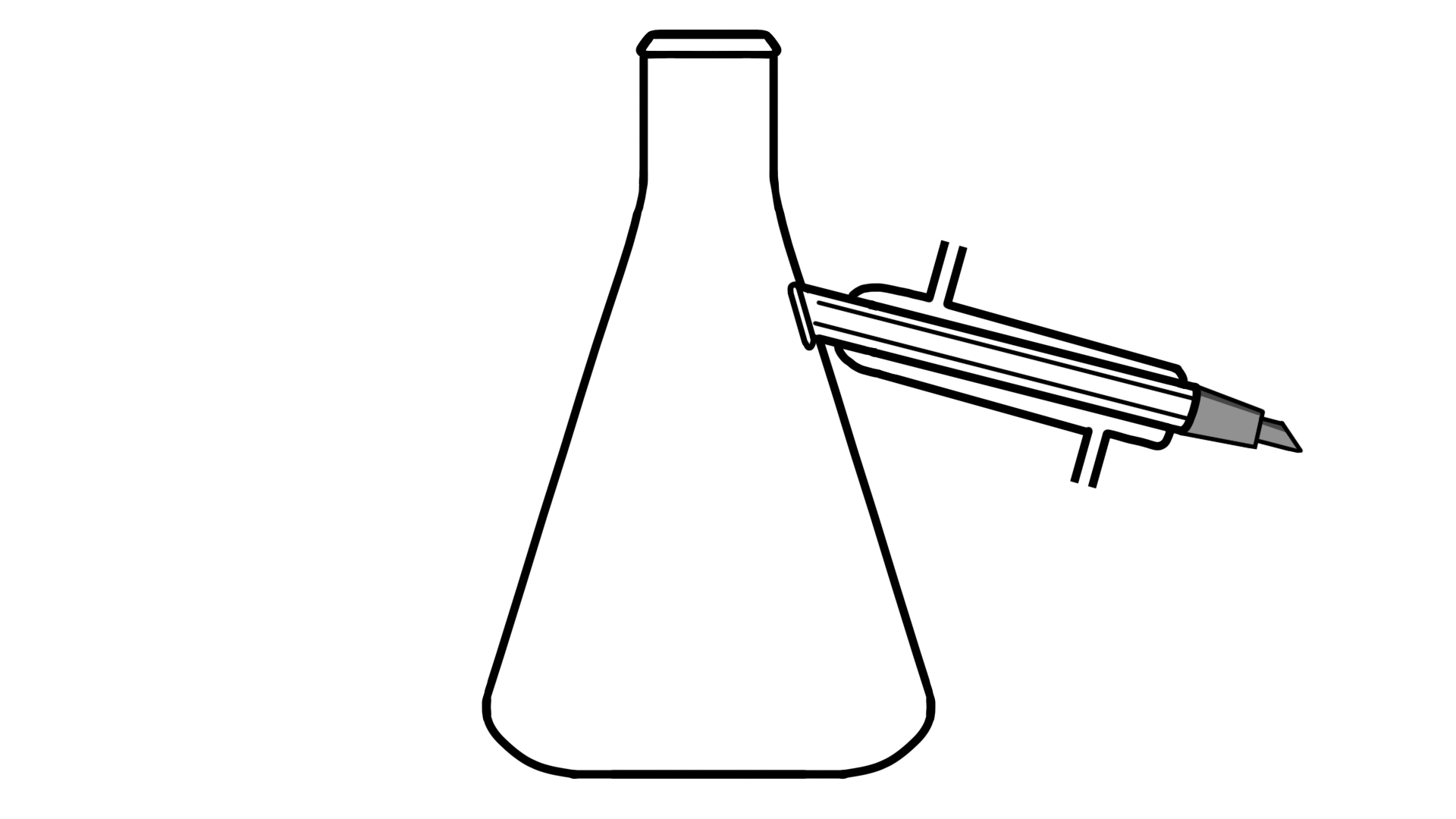 Flask with condenser