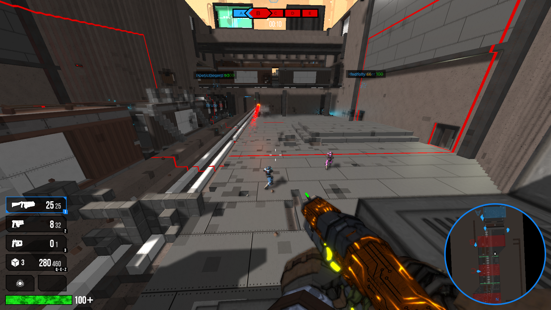 Breakthrough gamemode first-person view