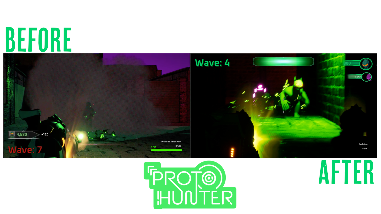 Before and After ProtoHunter UI