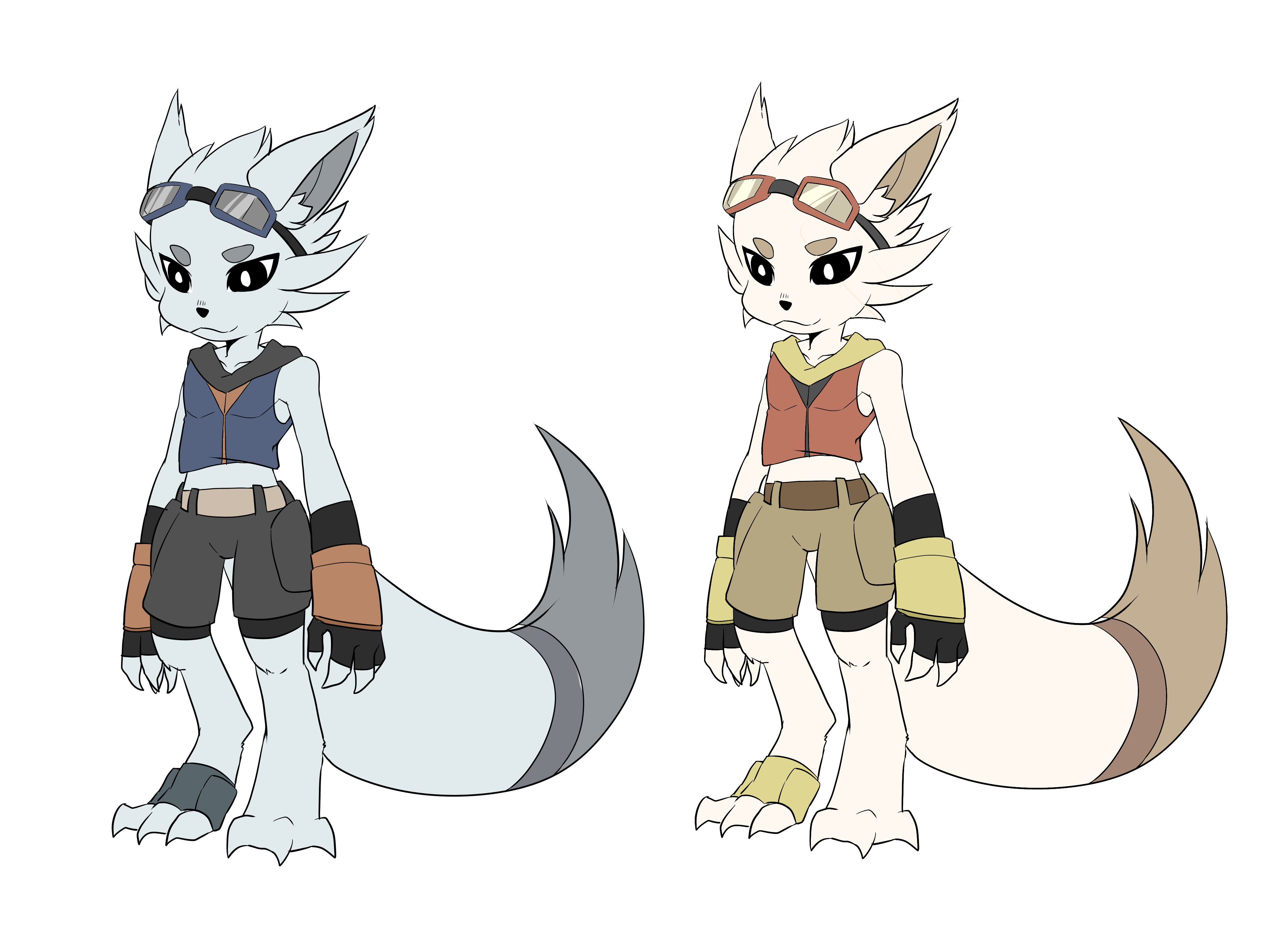 fox character color